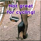 high heel cyclist