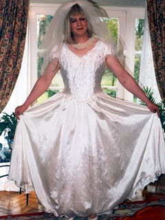big tranny wedding dress