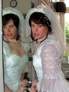 Tranny in wedding dress
